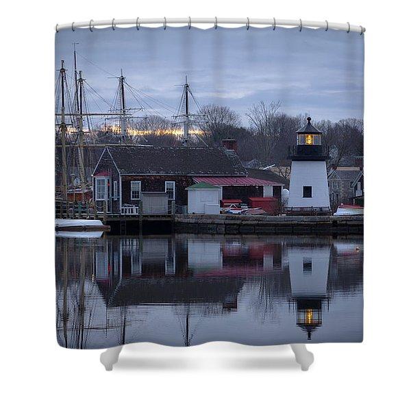 Mystic Seaport Shower Curtain