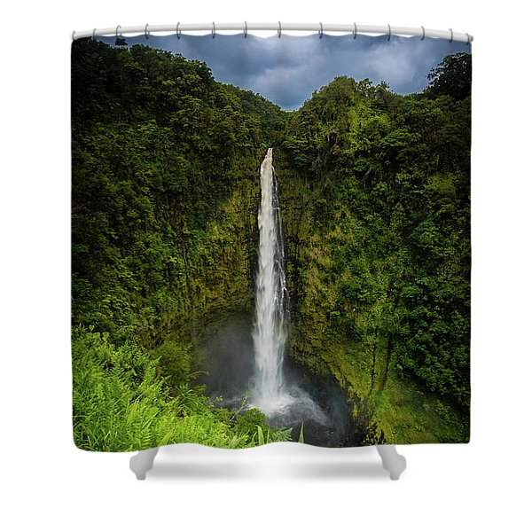 Shower Curtain featuring the photograph Mystic Waterfall by Break The Silhouette