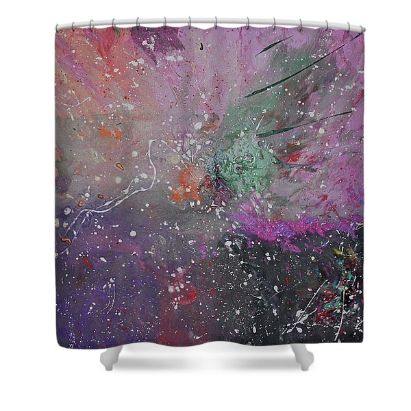 Shower Curtain featuring the painting Mystical Dance by Michael Lucarelli