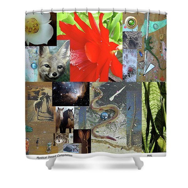 Mystical Desert Compilation Shower Curtain