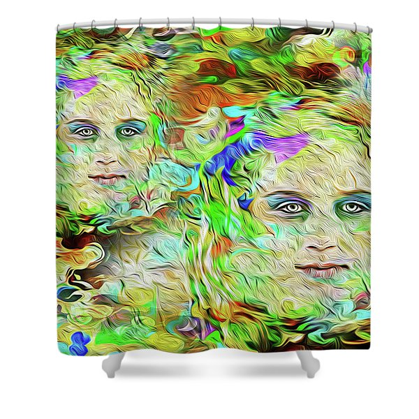Mystical Eyes Shower Curtain