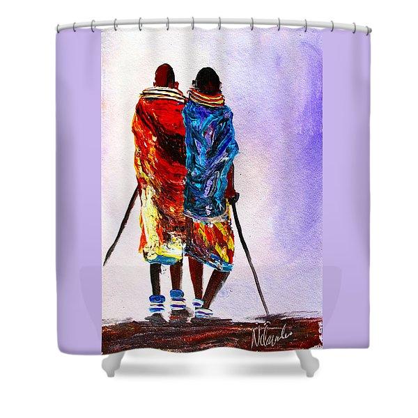 N 108 Shower Curtain