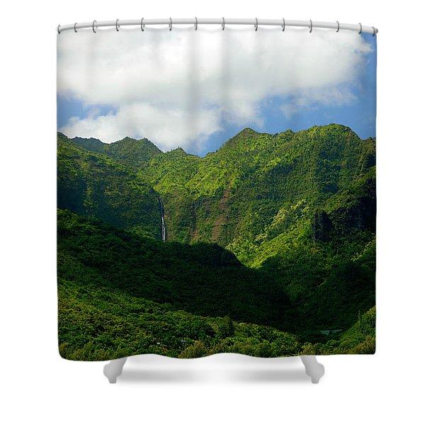 Na Pali Green Shower Curtain