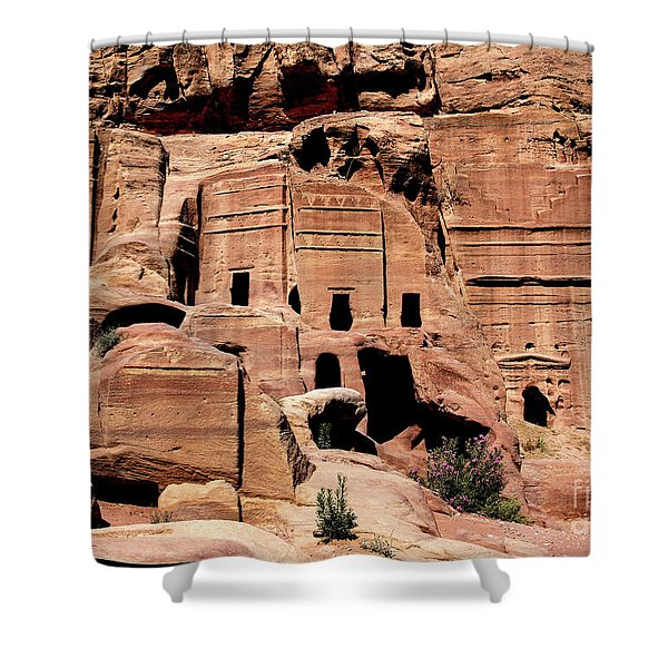 Shower Curtain featuring the photograph Nabataeans' City by Mae Wertz