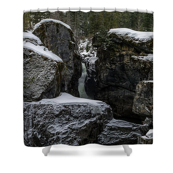 Nairn Falls, Winter Shower Curtain