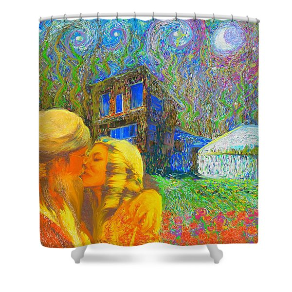 Nalnee And James Shower Curtain