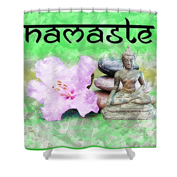 Namaste Buddha. V2 Shower Curtain