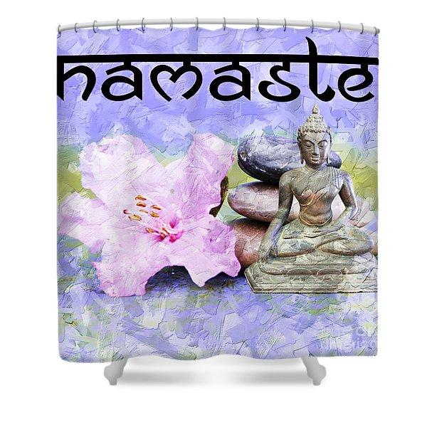 Namaste Buddha. V3 Shower Curtain