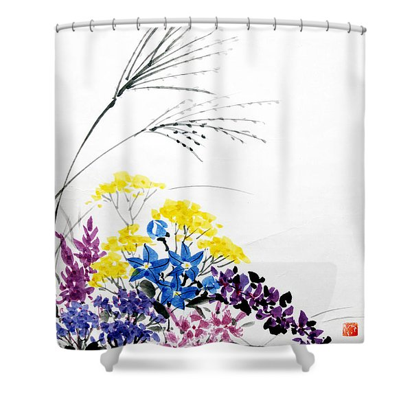 Nanakusa/ Autumn Seven Sisters Shower Curtain
