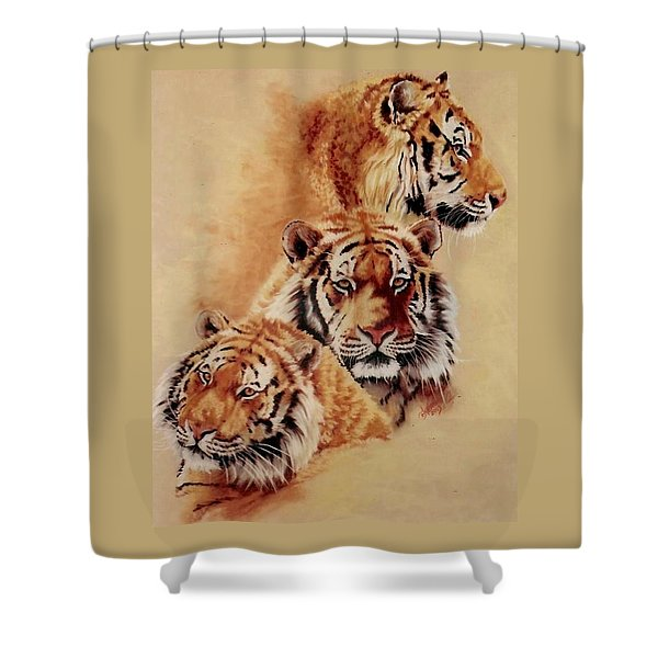 Shower Curtain featuring the pastel Nanook by Barbara Keith