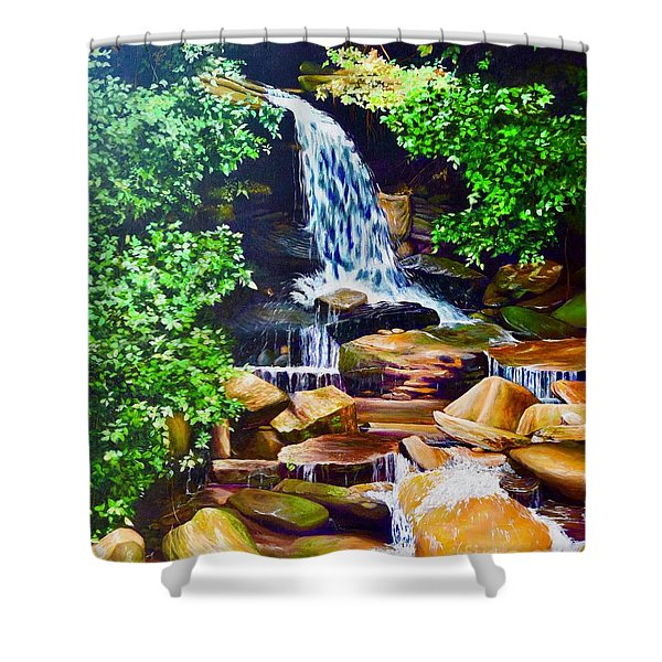 Nantahala Waterfall Shower Curtain