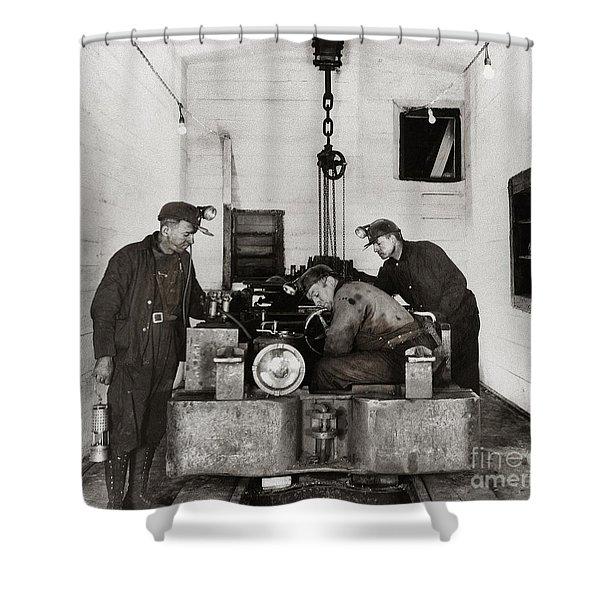 Nanticoke Pa Buttonwood Colliery Inman Shaft Glen Alden Coal Underground Motor Pit 1945 Shower Curtain