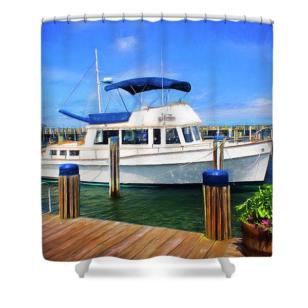 Nantucket Harbor Safe Harnor Series 52 Painted Shower Curtain