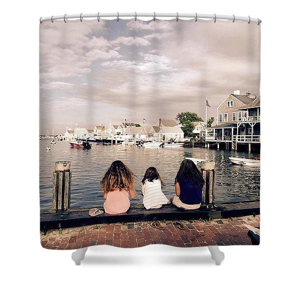 Nantucket Island Shower Curtain