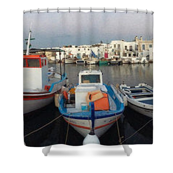Naoussa Village Island Greece Shower Curtain