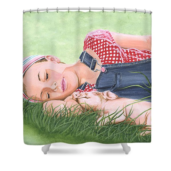 Nap Time Together Shower Curtain