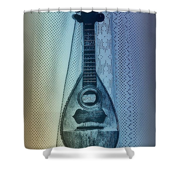 Napolitan Mandolin Shower Curtain by Bill Cannon