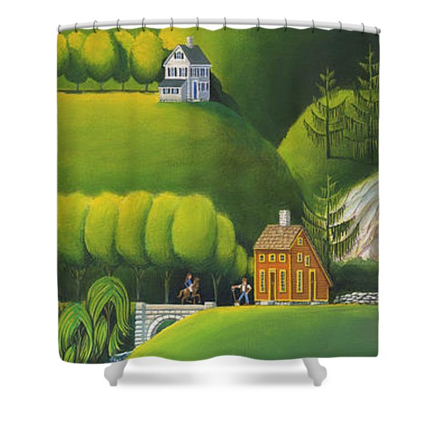 Narrow Foothills Shower Curtain
