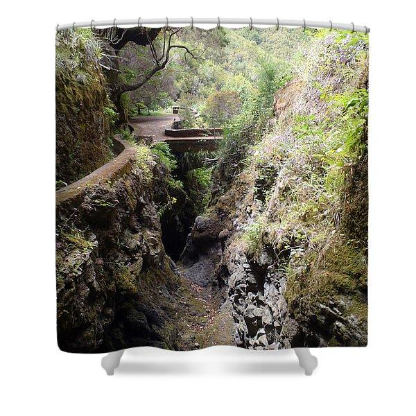 Narrow Path Shower Curtain