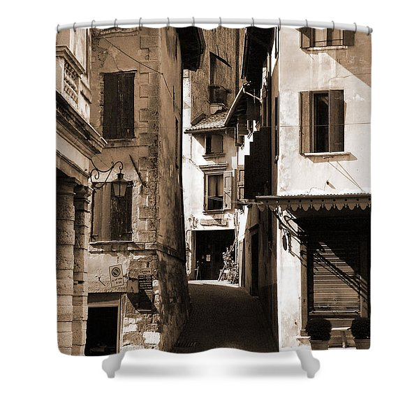 Narrow Streets Of Asolo Shower Curtain