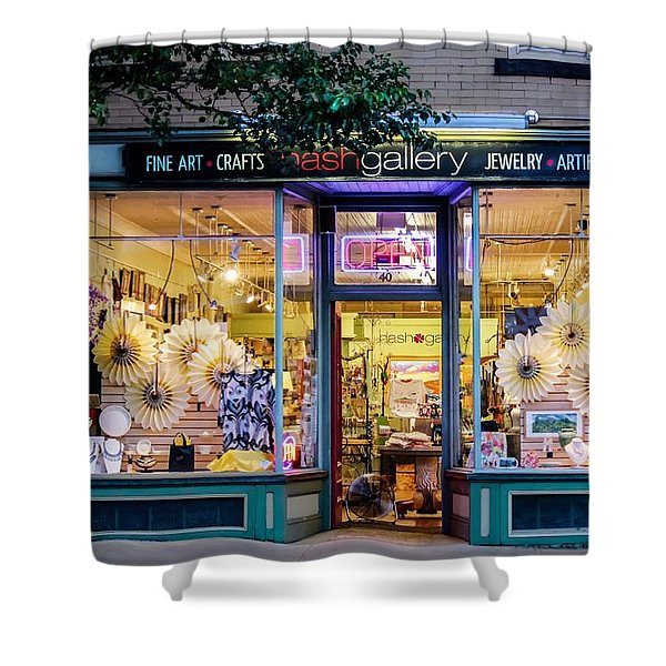 Shower Curtain featuring the photograph Nash Gallery In Easthampton, Ma by Sven Kielhorn
