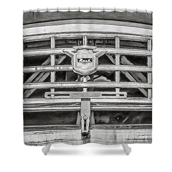 Nash Rambler - Black And White Shower Curtain