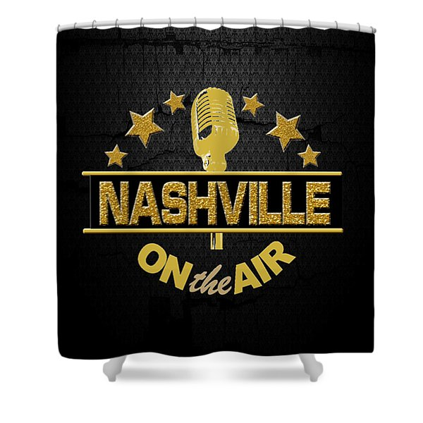 Nashville On The Air Shower Curtain