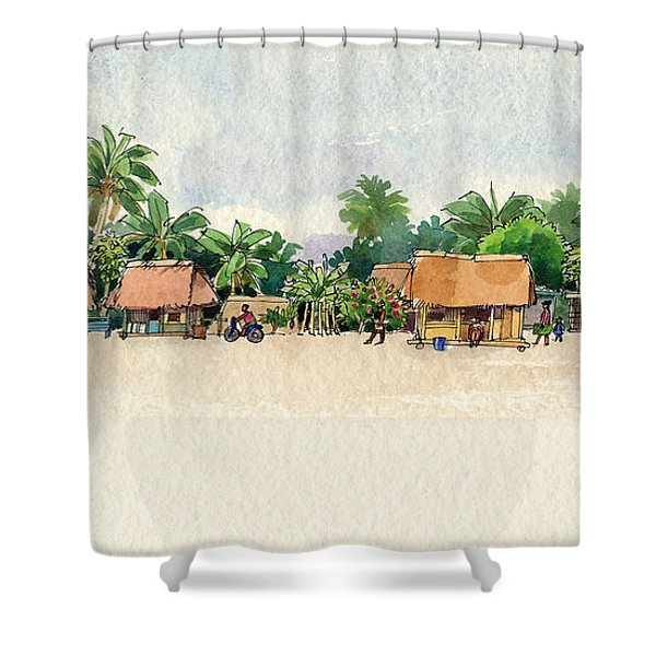 Nassau, Cook Islands, South Pacific Shower Curtain