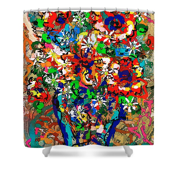 Natalie Holland Flowers Shower Curtain