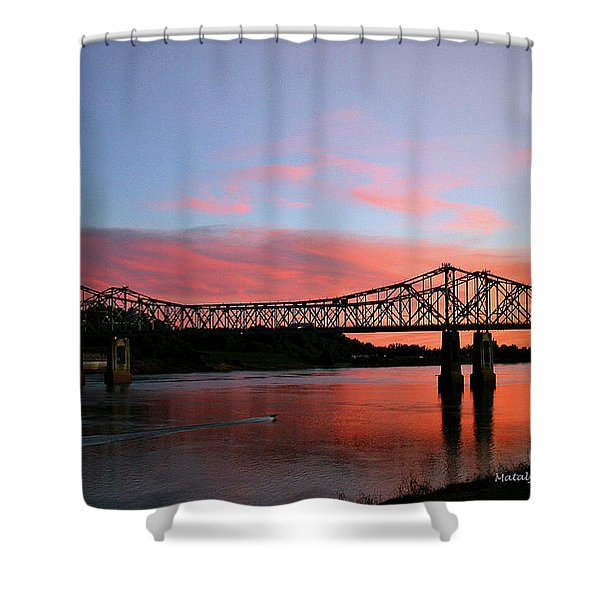 Natchez Sunset Shower Curtain