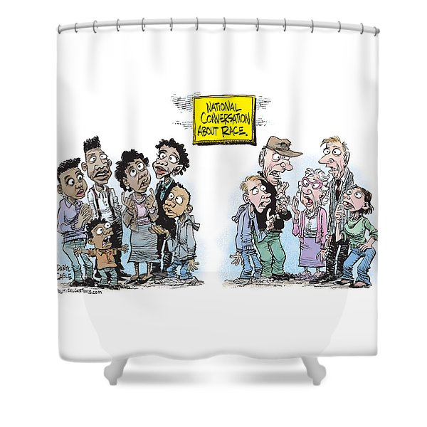 National Conversation About Race Shower Curtain