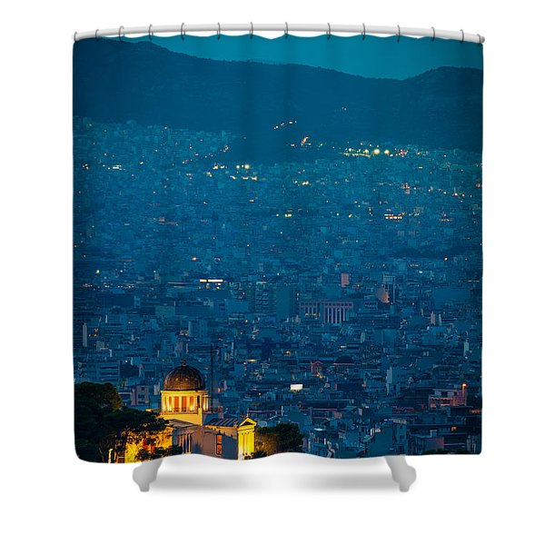 National Observatory Of Athens Shower Curtain