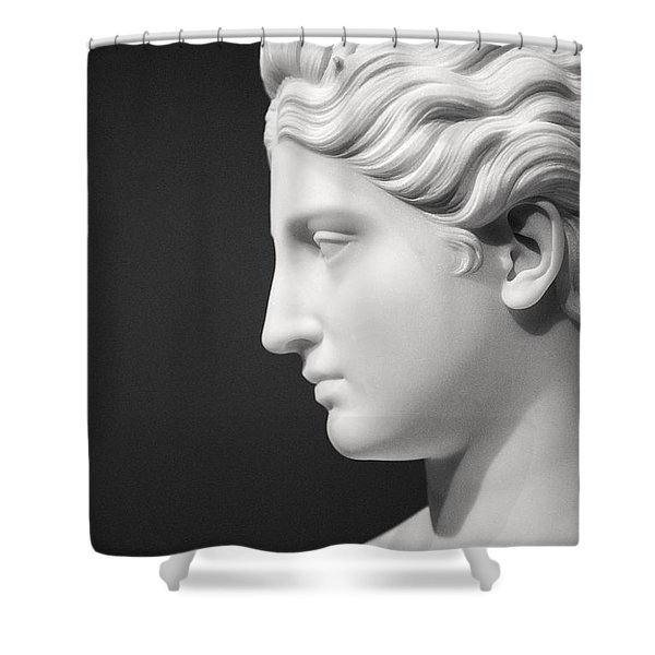 National Portrait Gallery Statue Profile Shower Curtain