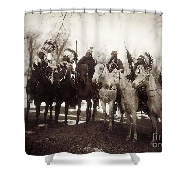 Native American Chiefs Shower Curtain