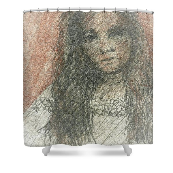 Native American Girl Shower Curtain