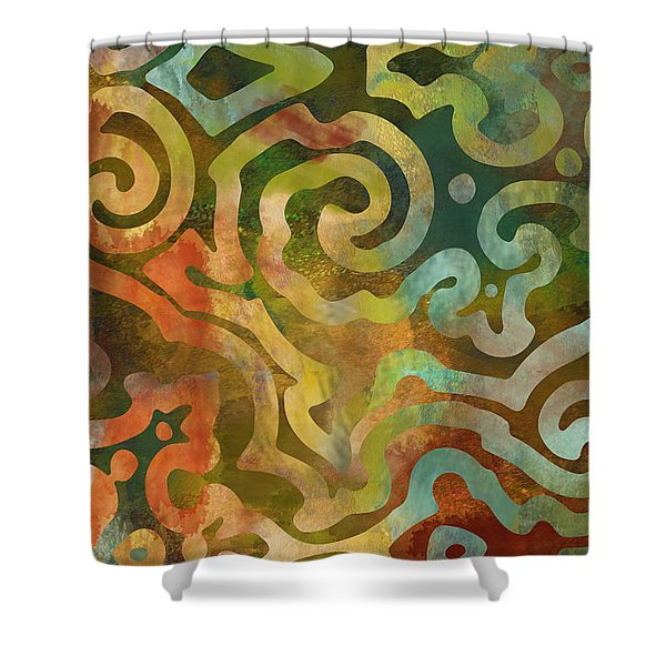 Native Elements Multicolor Shower Curtain
