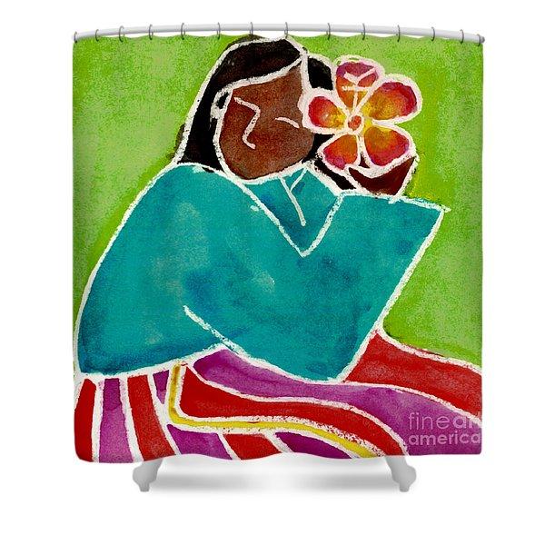 Native Girl Shower Curtain