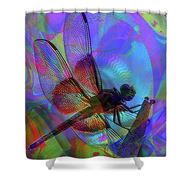 Shower Curtain featuring the digital art Natural Beauty I by Visual Artist Frank Bonilla