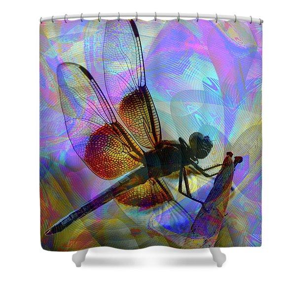 Shower Curtain featuring the digital art Natural Beauty II by Visual Artist Frank Bonilla
