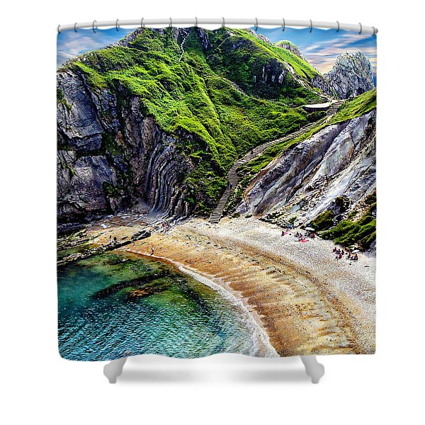 Natural Cove Shower Curtain
