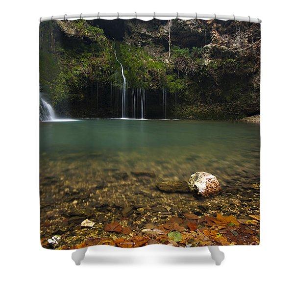 Natural Falls Shower Curtain
