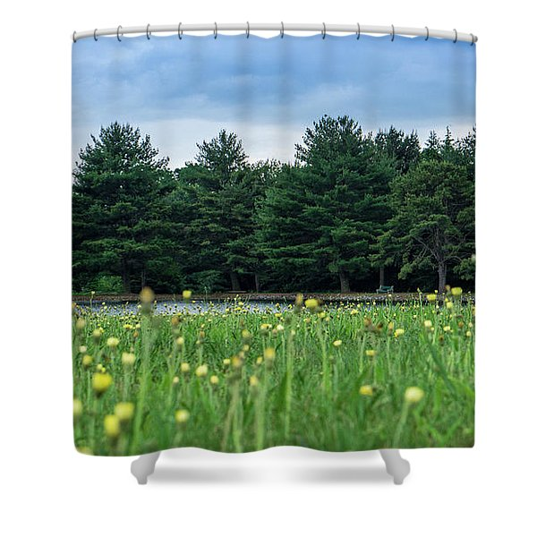Evergreen Lake - A Groundhog View Shower Curtain