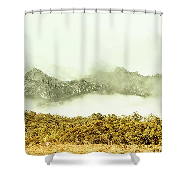 Natural Mountain Beauty Shower Curtain