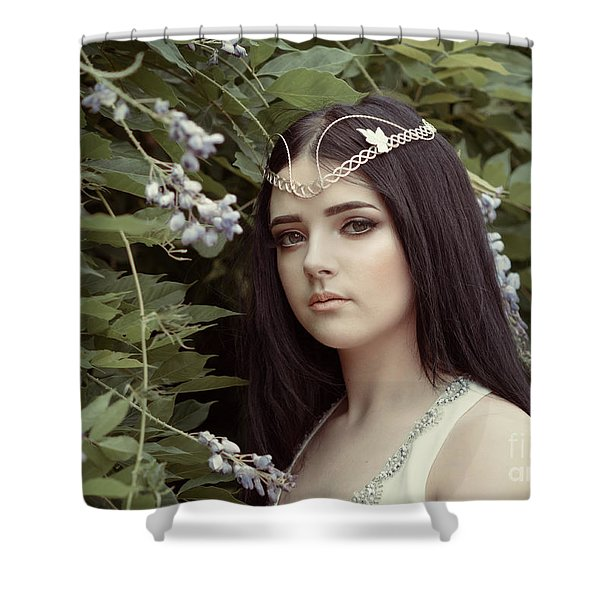 Natural Portrait Of Young Woman Shower Curtain