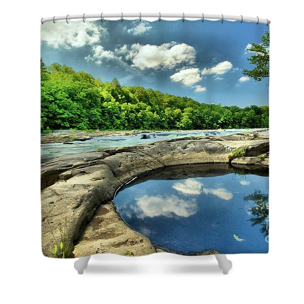 Natural Swimming Pool Shower Curtain