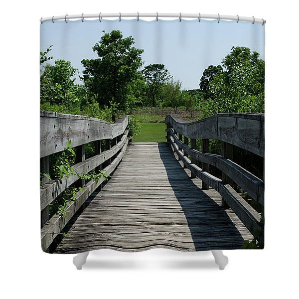Nature Bridge Shower Curtain