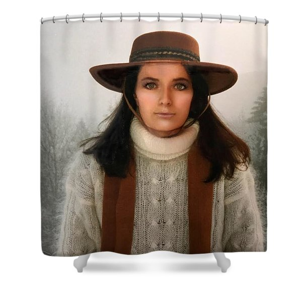 Nature Harmony Self Portrait  Shower Curtain