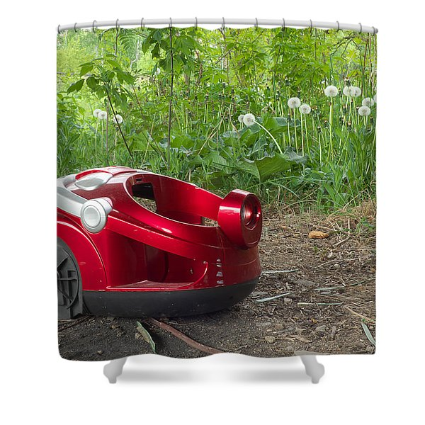 Nature Trash Vacuum Cleaner Shower Curtain