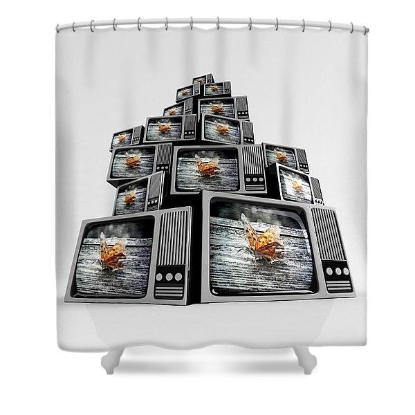 Nature Tv Shower Curtain