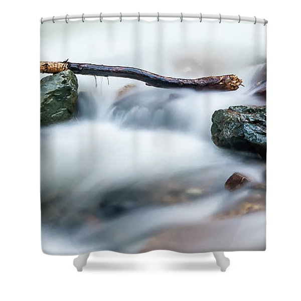 Natures Balance - White Water Rapids Shower Curtain